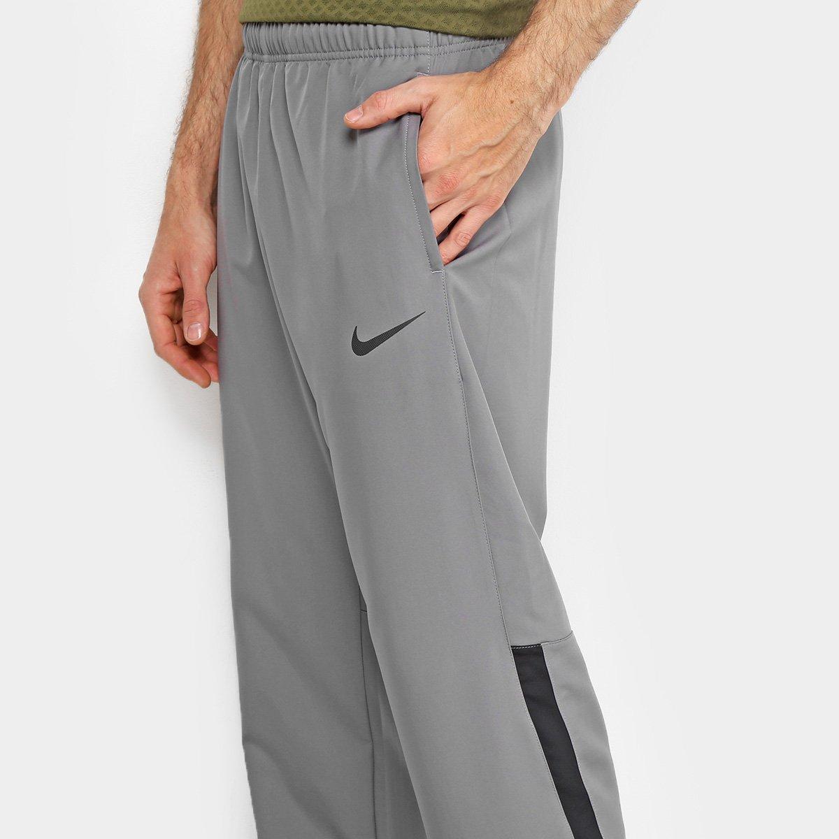Calça Nike Dry Team Woven Masculina - Cinza e Preto - Compre Agora ... 0daa5094d527f