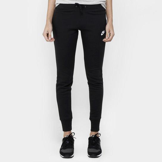 Calça Nike Nsw Flc Tight - Preto+Branco