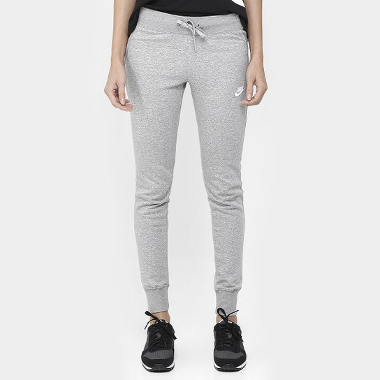 Calça Nike Nsw Flc Tight - Cinza+Branco