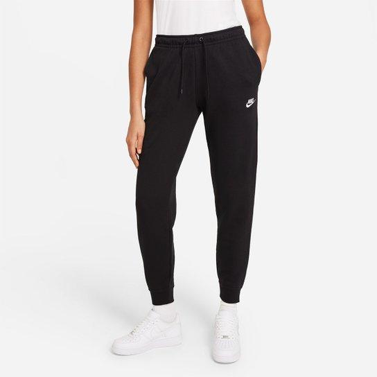 Calça Nike Sportswear Essential Feminina - Preto+Branco
