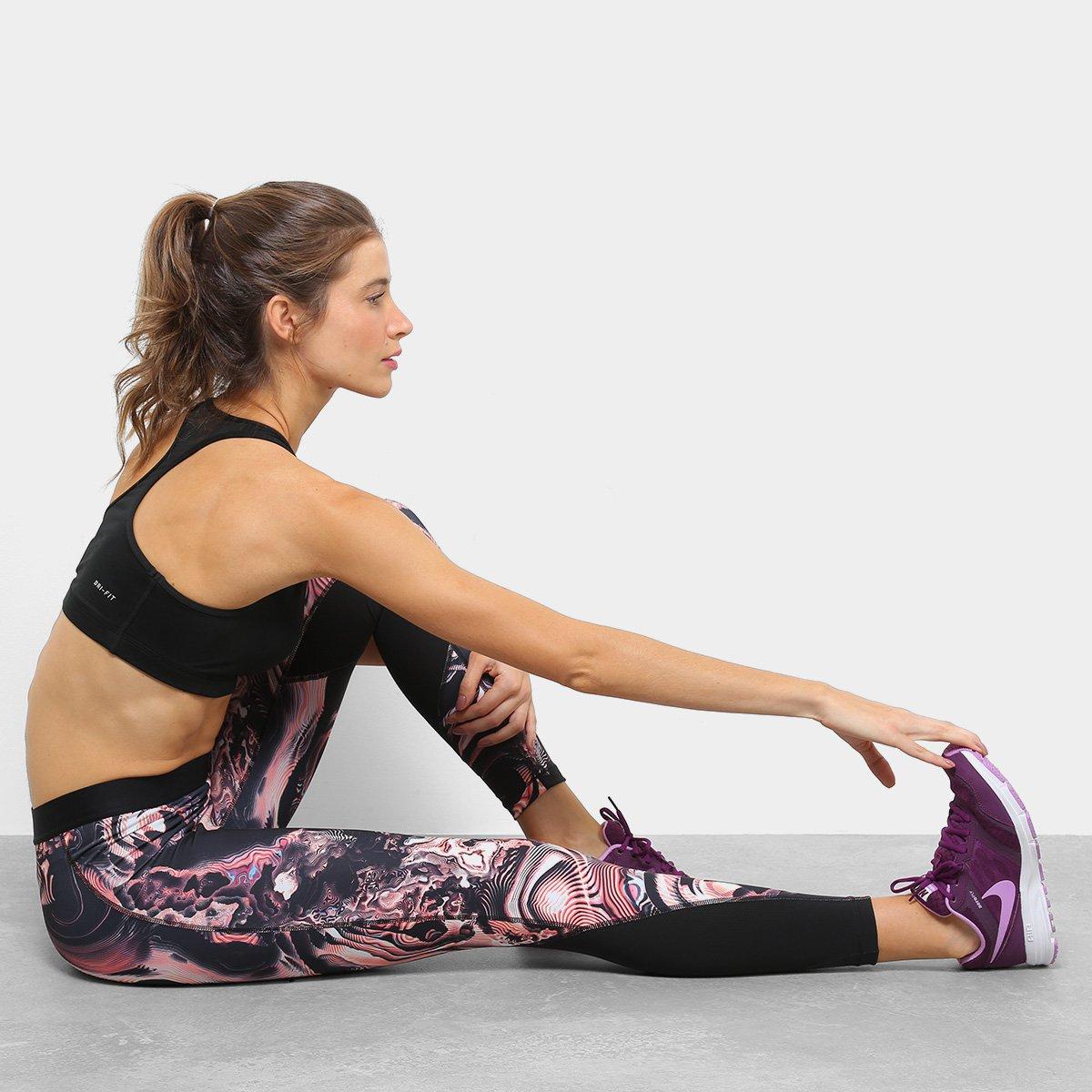 Coral Coral Nike Calça Calça Nike Print Feminina Tight wxOzq0a