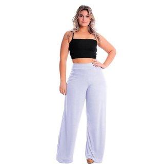 Calça Pantalona Cintura Alta Plus Size Lynnce