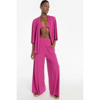 Calça Pantalona Essential - Rosa - G - LIVE!