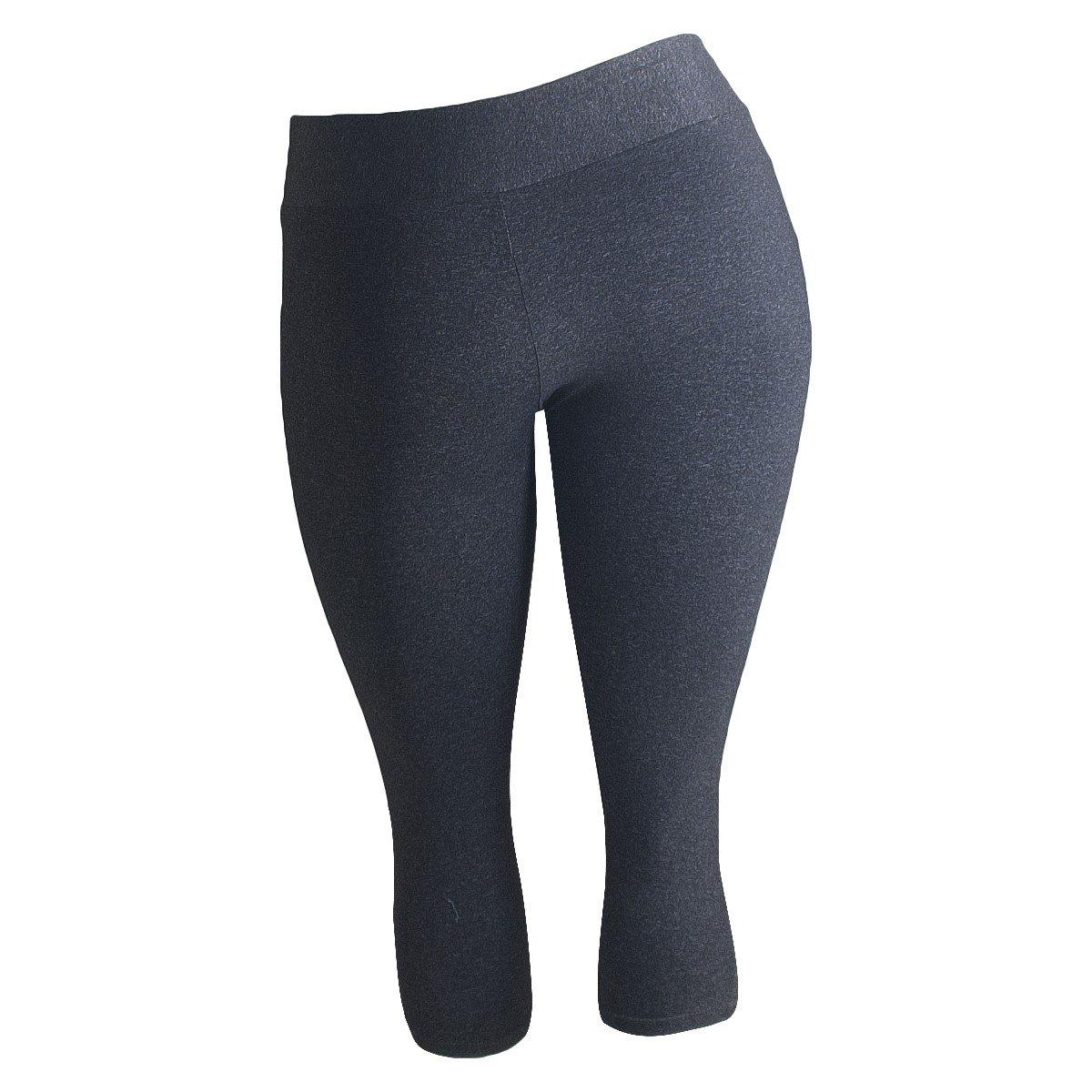 Calça Feminina Calça Plus Corsário Plus Size Chumbo Way Fit 1w5wRq0