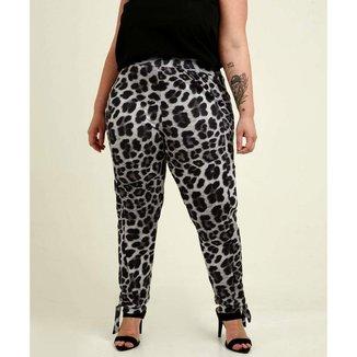 Calça Plus Size Feminina Animal Print - 10048172806