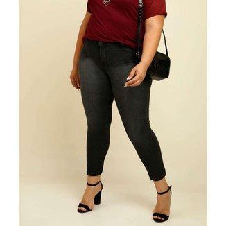 Calça Plus Size Feminina Jeans Cigarrete Biotipo - 10049656558