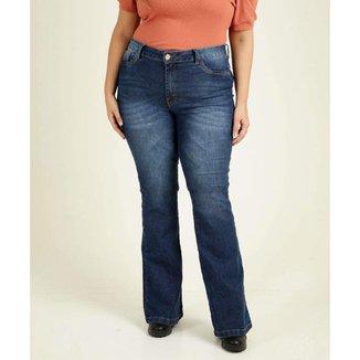 Calça Plus Size Feminina Jeans Flare - 10047013216
