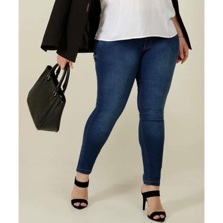 Calça Plus Size Feminina Jeans Skinny Biotipo - 10046222930