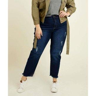 Calça Plus Size  Jeans Destroyed Marisa Feminina