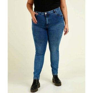 Calça Plus Size  Jeans Skinny Feminina
