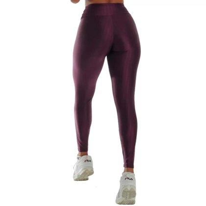 calça poliamida 3d cintura alta wolfox