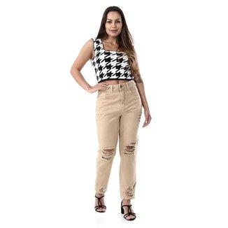 Calça sarja feminina mom - 268619 40