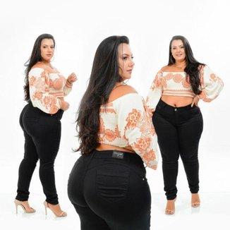 Calça Sarja Feminina Plus Size Cintura Alta