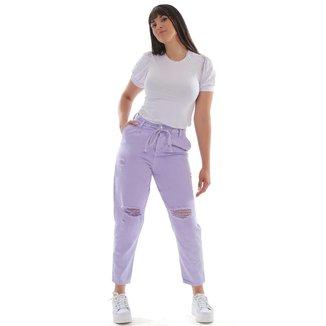 Calça sarja feminina slouchy - 268592 42