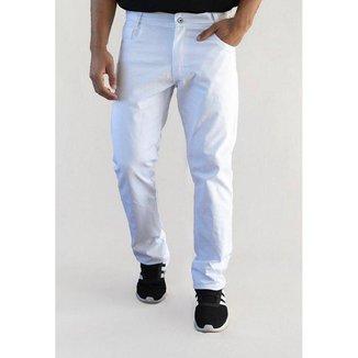 Calça Sarja Masculina Versatti Reta Slim Branco Groelandia A20 48