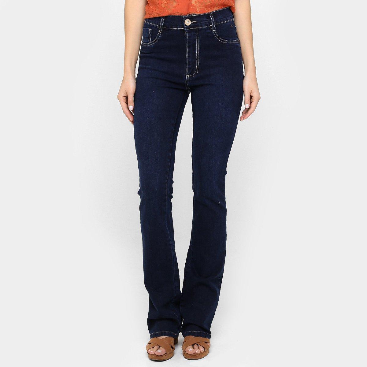 786139e28 Calça Sawary Hot Pant Flare Lavagem Escura - Compre Agora