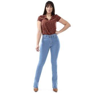 Calça Sawary jeans feminina flare - 268220 48
