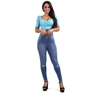Calça Sawary jeans feminina modela bumbum - 268083 46