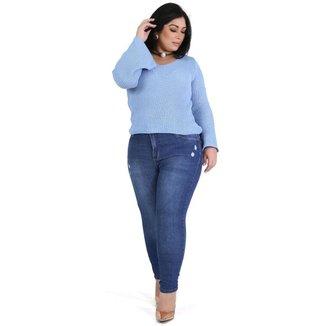 Calça Sawary jeans feminina plus size - 267174 52