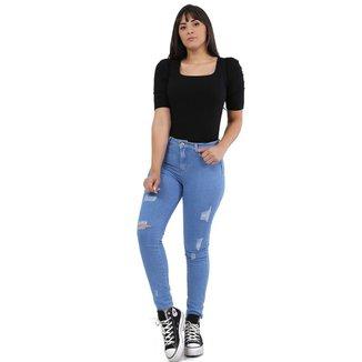 Calça Sawary jeans feminina skinny - 267908 46