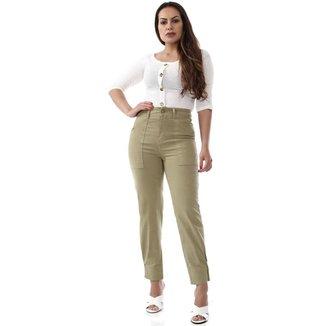 Calça Sawary Jeans sarja feminina cigarrete - 268590 46