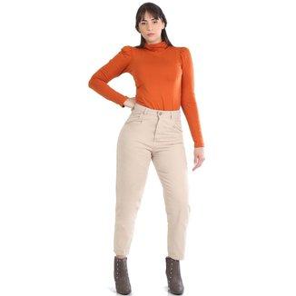 Calça Sawary Jeans sarja feminina slouchy - 268429 42