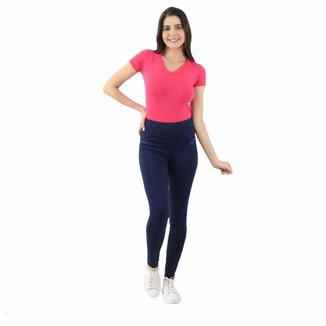 Calça Skinny em Polimiada Lili com Bolso Traseiro