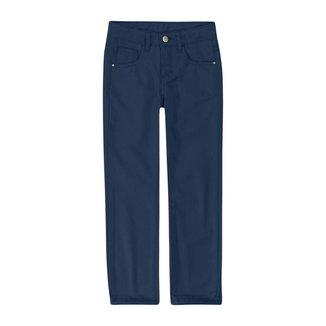 Calça Skinny Em Sarja Viroblock® Menina Malwee Kids Azul Escuro - 2 Malwee Kids