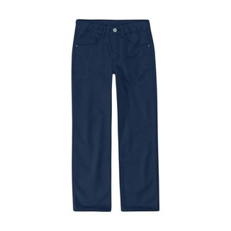Calça Skinny Em Sarja Viroblock® Menino Malwee Kids Azul Escuro - 1 Malwee Kids