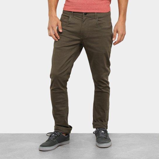 Calça Skinny Oakley 5 Pocket Masculina - Verde