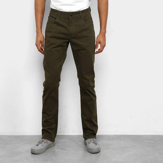 Calça Skinny Oakley 5 Pocket Masculina - Verde Militar