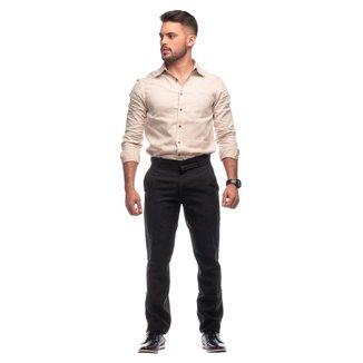 Calça social masculina oxford preto diversos tamanhos