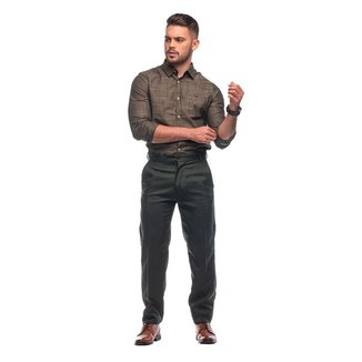 Calça Social Masculina Oxford Tradicional Tecido