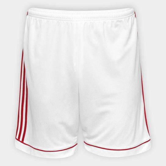 Calção Adidas Squadra 17 Masculino - Branco+Vermelho