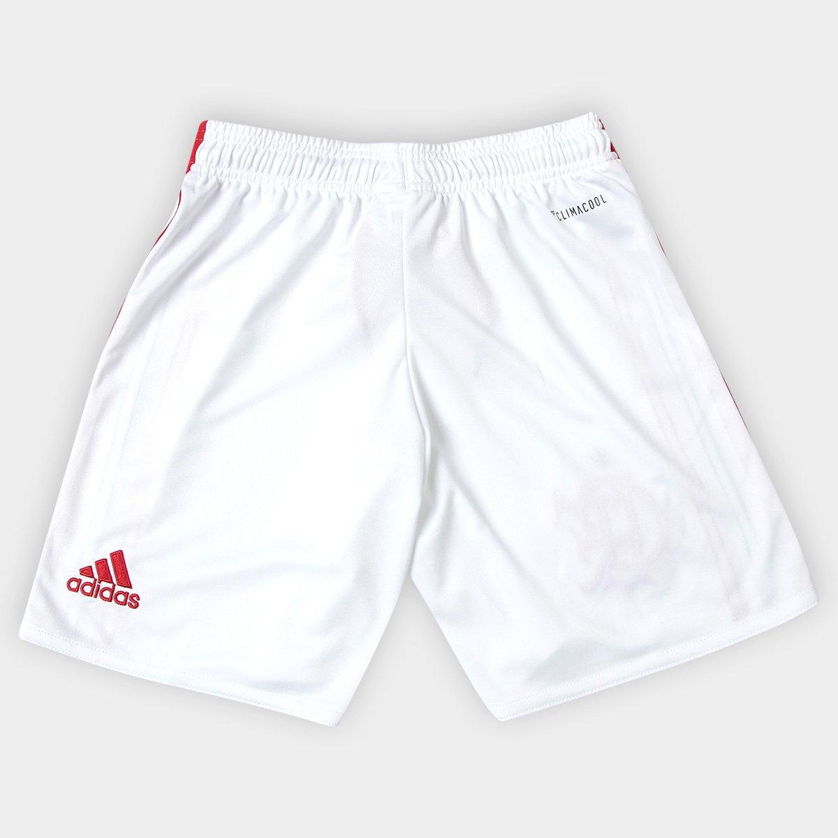 a7855361ac Calção Flamengo Infantil I 17 18 Adidas - Branco - Compre Agora ...