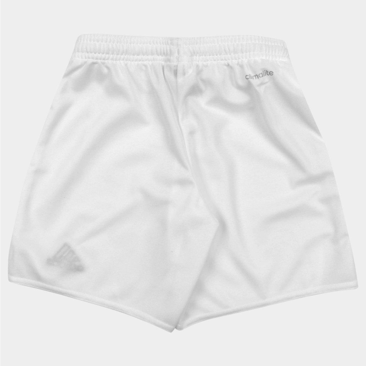 Calção Infantil Adidas Parma 16 - Branco e Preto - Compre Agora ... 3a34c6ad78a2c
