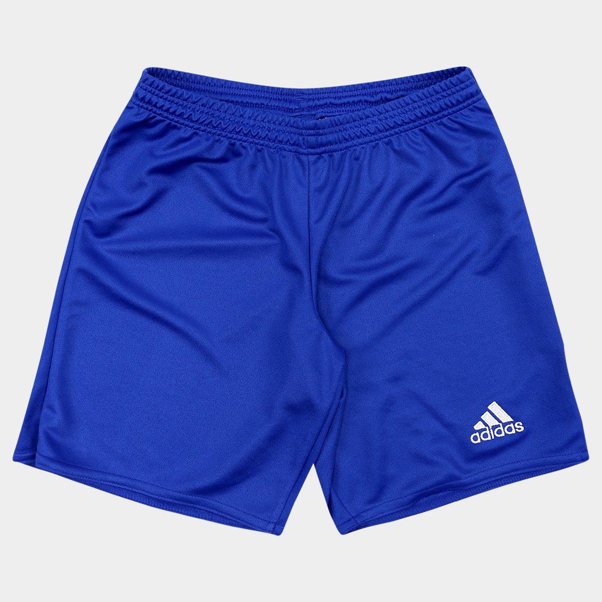 Calção Infantil Adidas Parma 16 - Azul e Branco - Compre Agora ... 5b8ee550168e4