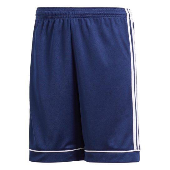 Calção Infantil Adidas Squadra - Azul+Branco