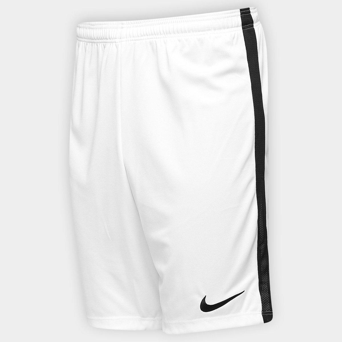 Calção Nike Dry Academy Masculino - Branco e Preto - Compre Agora ... 73211c6621f3f