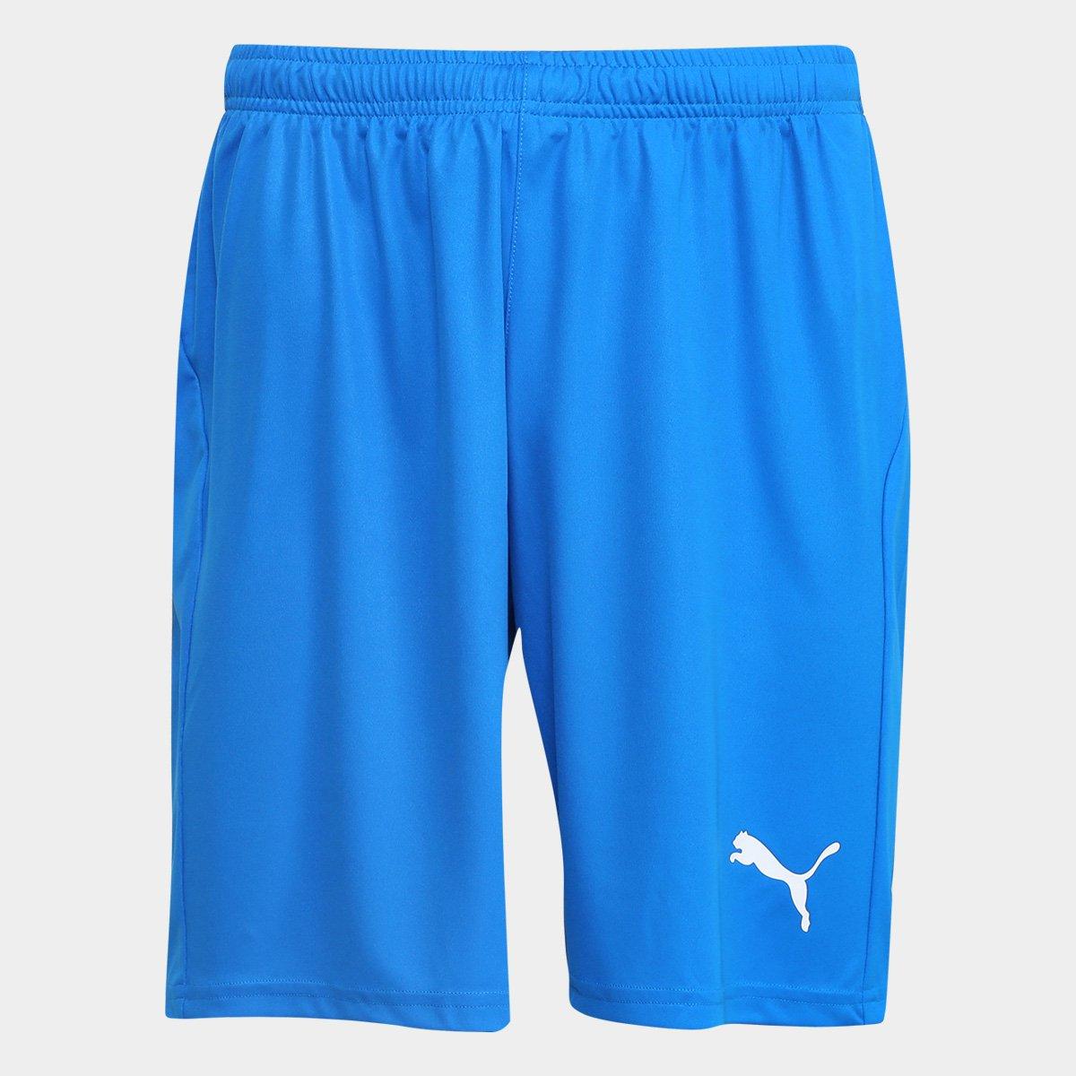 Calção Puma Liga Core Masculino Azul e Branco