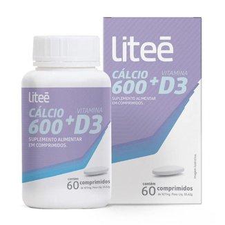 Cálcio 600 e Vitamina D3 Litee 60 comprimidos