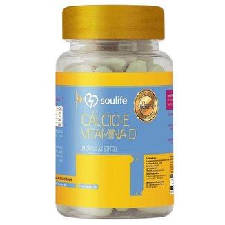 Cálcio e Vitamina D 500mg - 90 Cáps - Soulife
