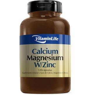 Calcium Magnesium W/Zinc 120 Cáps - Vitaminlife