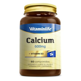 Calcium + Vitamin D 60 Cáps - Vitaminlife