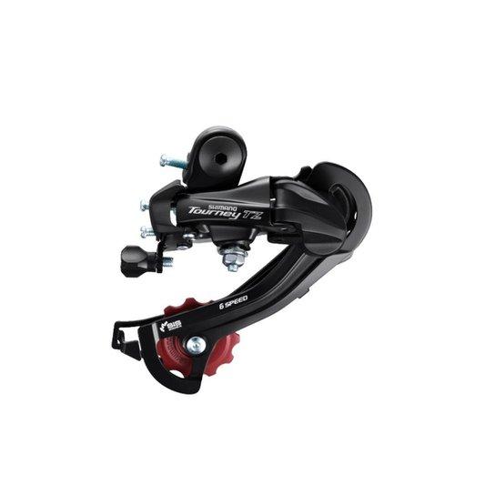 Cambio Traseiro Shimano Tourney TZ500 GS 6/7v S/Ganch - Preto