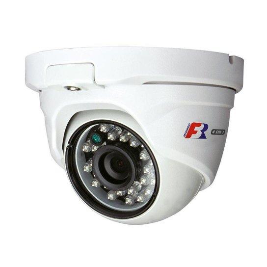 Camera Dome FBR PP IR15 720 Pixels 2.8MM CVI TVI AHD CVBS IP65 - Branco