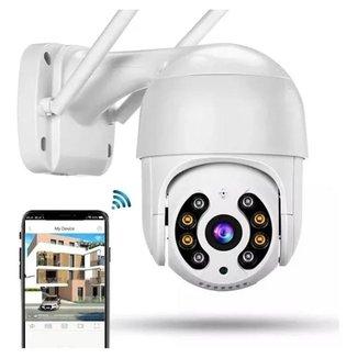 Câmera Ip Speed Dome Zoom 4x Mais Ptz Wifi Prova D Água Ip66