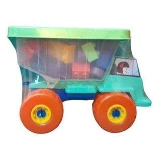 Caminhão Funny Blocks Com 26 Peças De Montar