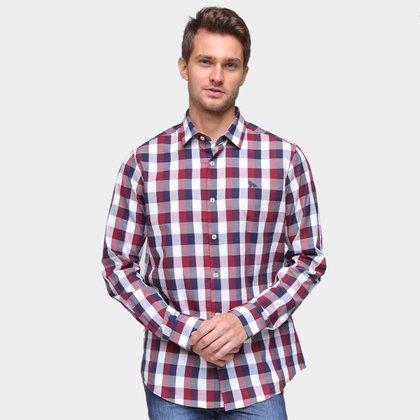 Camisa Acostamento Xadrez Masculina