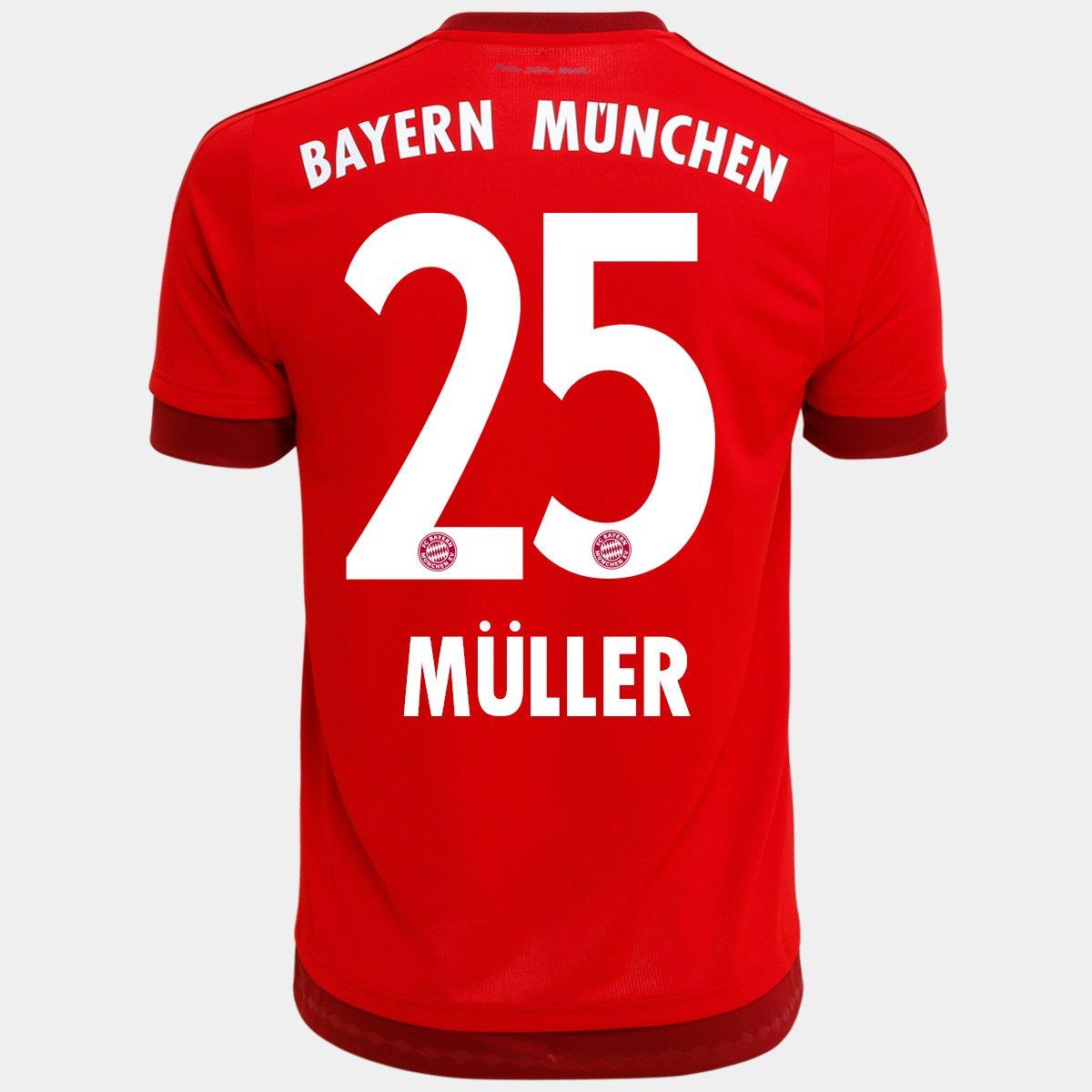 d20decfb79c3f Camisa Adidas Bayern de Munique Home 15 16 nº 25 - Müller - Compre Agora